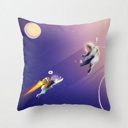 M83 - GO! Music Inspired Illustration Throw Pillow