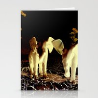 baby elephant Stationery Cards featuring Baby elephant by nicky2342