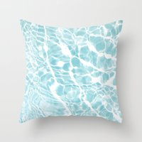 pool Throw Pillows featuring Pool by Claire Jantzen