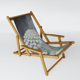 Queen Anne's Lace Flower Painting Sling Chair