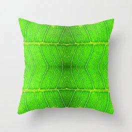 Macro Leaf no 6 Throw Pillow