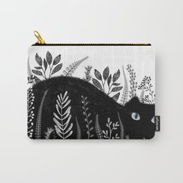 Garden Cat Black And White Carry-All Pouch