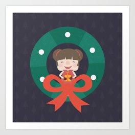 Day 07/25 Advent - Merry Little Christmas Art Print