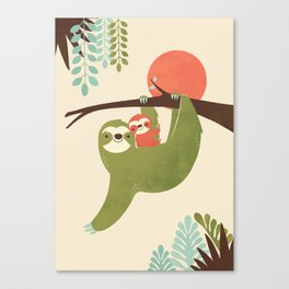 Mama Sloth Canvas Print