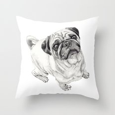 Seymour the Pug Throw Pillow