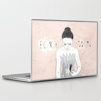 black swan Laptop & iPad Skins featuring Black Swan  by Eltina Giannopoulou