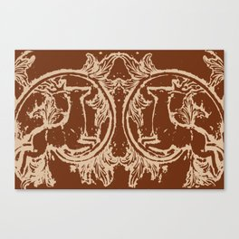 Chocolate Asheville Stags a Leaping Canvas Print