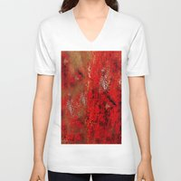 earth V-neck T-shirts featuring Earth by Saundra Myles