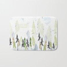 Into the woods woodland scene Bath Mat