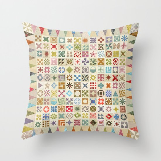 Jane's Addiction to Quilting Throw Pillow