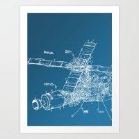 Skylab! Art Print