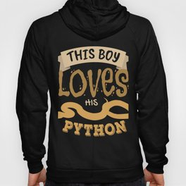 This Boy Loves His Ball Python | Cute Snake Lover Kids Hoody