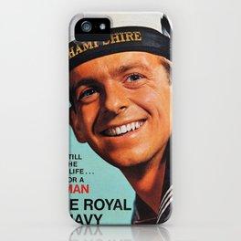 Royal Navy vintage poster iPhone Case