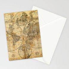 Vintage World map Stationery Cards