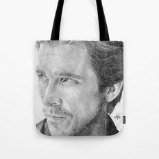 Christian Bale Traditional Portrait Print Tote Bag