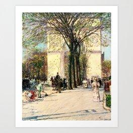 Frederick Childe Hassam - Washington Arch, Spring - Digital Remastered Edition Art Print