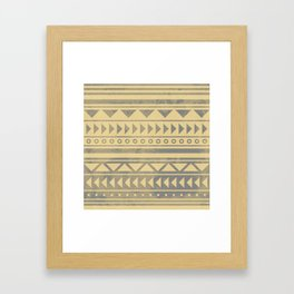 Ethnic geometric pattern with triangles circles and lines Framed Art Print