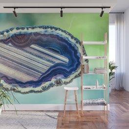 Blue purple geode Wall Mural