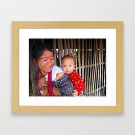 Myanmar Madonna - Mother and Child Framed Art Print