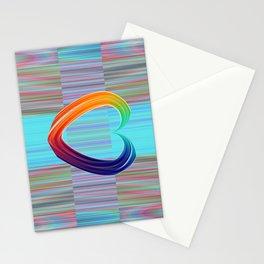 Fractal Art- Pattern Art- Heart Art- Blue Hearts-Pixxie Stixx- LGBT Art- Love- Healing Energy Art Stationery Cards
