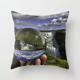 Gullfoss Crystal Ball 2 Throw Pillow