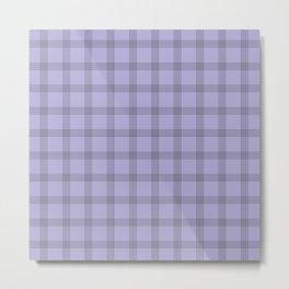 Black Grid on Pale Purple Metal Print