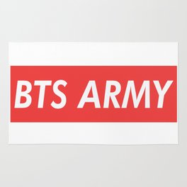 BTS ARMY red Rug
