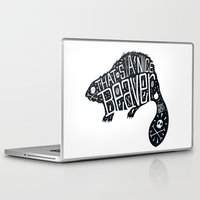 beaver Laptop & iPad Skins featuring That's a Nice Beaver by Matthew Price