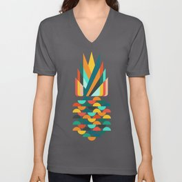 Groovy Pineapple Unisex V-Neck