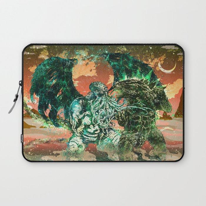 Cthulhu vs Godzilla Laptop Sleeve