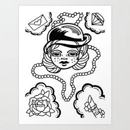 A Girl's Best Friends Art Print