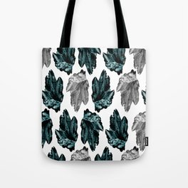 turquoise and grey crystal pattern Tote Bag