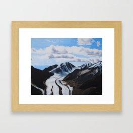 Glaciers Denali National Park Framed Art Print