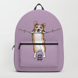 Hang In There Baby Corgi Backpack