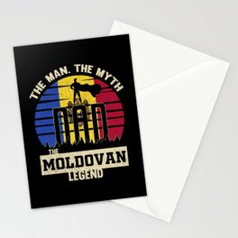 The Man The Myth The Moldovan Legend Dad Stationery Cards