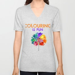 Coluring Is Fun Unisex V-Neck