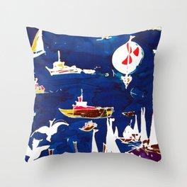 Southport Marina, AUSTRALIA                by Kay Lipton Throw Pillow