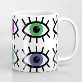 Open Your Eyes - Festival Pattern Coffee Mug