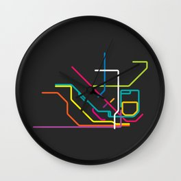 lisbon metro tram map Wall Clock