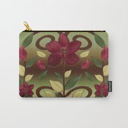 Scarlet Flora Carry-All Pouch