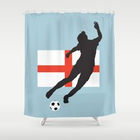 england Shower Curtains featuring England - WWC by Alrkeaton