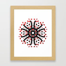 Red Black Tribal Star Framed Art Print