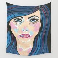 indigo Wall Tapestries featuring Indigo by Sartoris ART