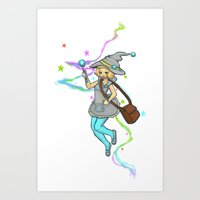 magical girl Art Prints featuring Magical Girl by CombatantCucumbers