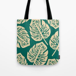 Midnight Philodendron Tote Bag