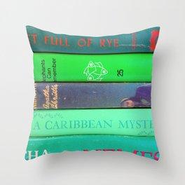 Agatha in Green Throw Pillow
