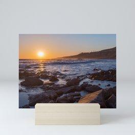 White's Point Sunset Mini Art Print