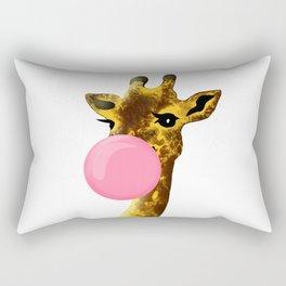 Cute giraffe with chewing gum Rectangular Pillow