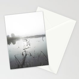 Foggy lake in the morning Stationery Cards