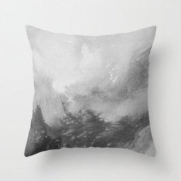 Mountain Views b/w Throw Pillow